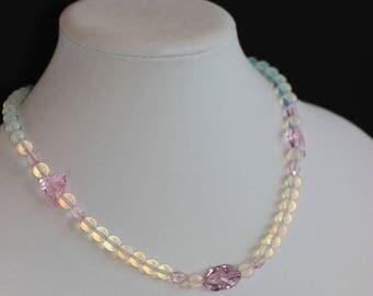 Opaline and Swarovski Crystal Necklace