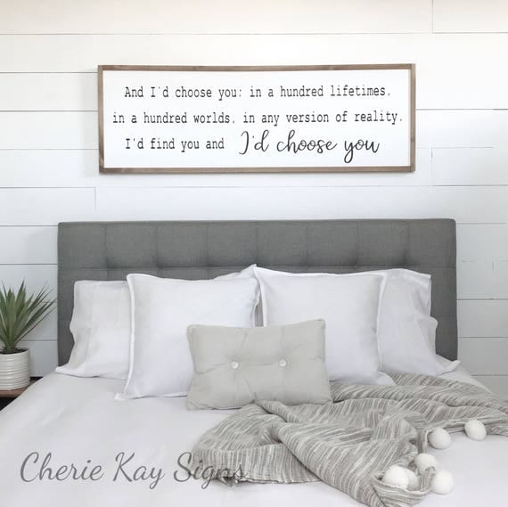 Wooden Bedroom Accessories Bedroom With Black Furniture Ideas Bedroom Design Ideas Hdb Normal Bedroom Ceiling Designs: Bedroom Decor I'd Choose You Wood Sign Farmhouse