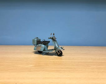 Vintage light blue scooter vespa miniature,Handmade decorative collectible miniature,Dollhouse miniature,Toy scooter vespa,Miniature Vespa