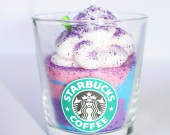 UNICORN FRAPPUCCINO CANDLE, Starbuck's Frappuccino Candle, Handmade Candle , Gifts, Best smelling Candles, Housewarming Gifts, Aroma Candles