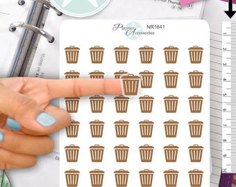 Clear Trash Stickers garbage Stickers Recycle Stickers Planner Stickers Erin Condren Functional Stickers Decorative Stickers NR1641
