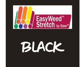 Siser EasyWeed Stretch Heat Transfer Vinyl - HTV - Black