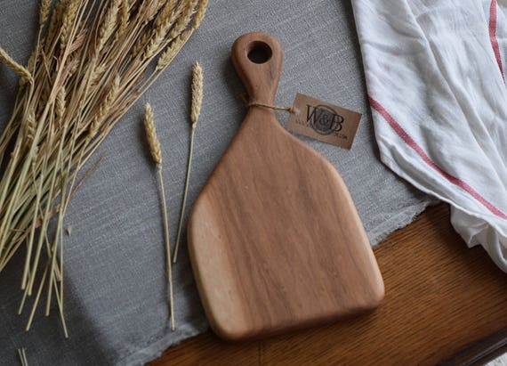 the Little Baker   Hickory bread board, cheese board, cutting board, serving board