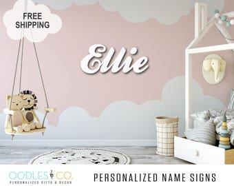 Name Sign for Kids | Name Sign Wood | Nursery Name Sign |Nursery Name Sign Girl | Nursery Name Sign Boy | Name Sign for Nursery |  DS06