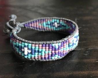 Mixed Color Patchwork Bracelet