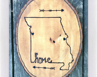 Custom Made Wood Burning Home Sign