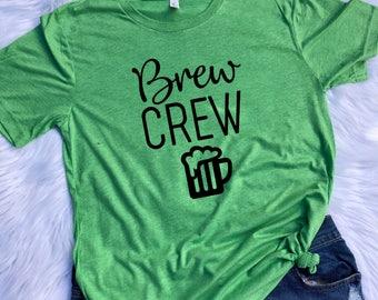 Brew Crew UNISEX T-shirt St. Patricks day shirt, St. Patricks day, Shenanigans shirt, Brew Crew T-shirt, Matching St patricks day shirts
