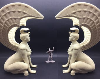 Great Riddle Sphinx gate to the Southern Oracle from Neverending Story Resin 3D printed model