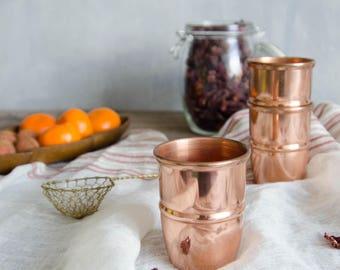 Set of 3 Vintage stackable copper cups