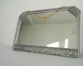 Miroir art déco, glace art déco, miroir salle de bains,