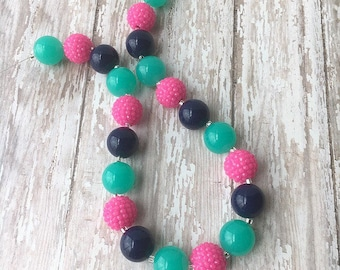 Stocking Stuffers for Girls - Chunky Necklace - Bubble Gum Necklace - Little Girls Necklace - Bubble Necklace - Big Bead Necklace