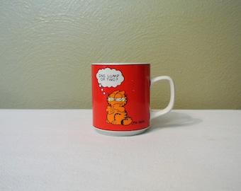 1978 Garfield Jim Davis Coffee Mug, One Lump or Two?
