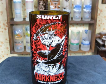 Cool Gift for Guys Surly Darkness Beer Glass Best Beer Gifts idea drinking buddies from wife son for real man dad husband present ingenious