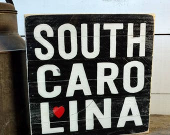 South Carolina Sign, South Carolina Gift, Carolina Decor, Carolina Wood Sign, South Carolina Decor, Carolina Wall Decor, Wooden Sign SS10