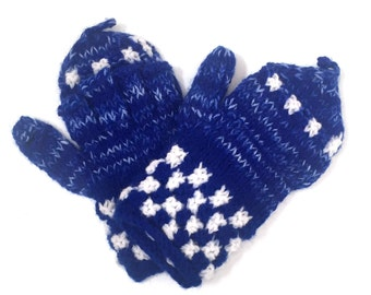 Lambs wool mitten gloves