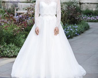 Long Sleeve Lace Wedding Dress Topper 114 Bridal Top