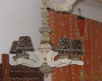 Shell Encrusted Chandelier, My Obeisance to Neptune !