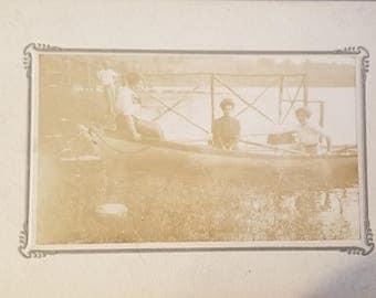 Vintage Canoe Photograph