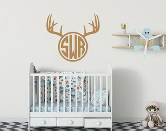 Wall Decal Deer Etsy - Custom vinyl wall decals deer