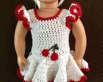 Cherry Jubilee Doll Dress