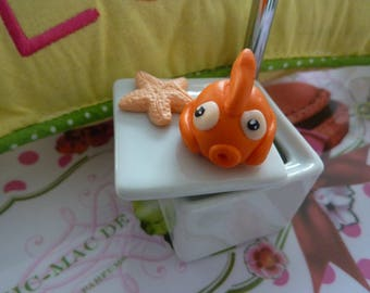 Porcelain fish box kawaii and polymer clay Starfish was sea nemo