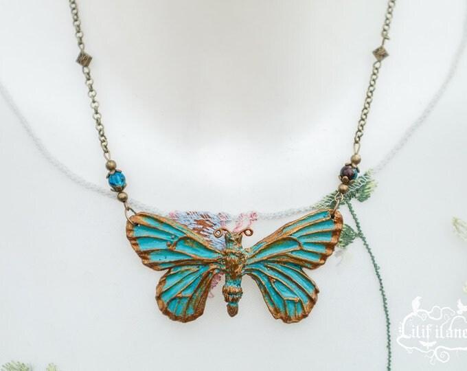 Butterfly Necklace Patina 7, 3cm