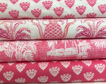 Bundle of 4 Fabrics from the Tradewinds Collection by Michael Miller Fabrics, South Pacific, Hawaiian