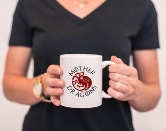 Personalized Mother Of Dragons, Game of Thrones Mug, Khaleesi, TV Show Mug, Targaryen, Daenerys Targaryen, Fire and Blood, Coffee Mug, MD778