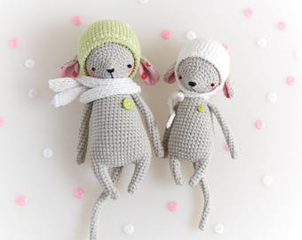 """Mouse """"Agata"""" and baby mouse """"Lily"""""""