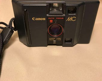 Vintage Canon MC Point and Shoot 35mm Camera