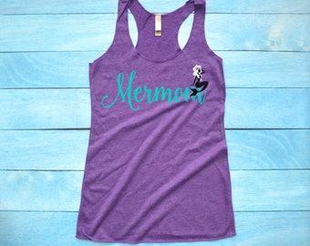 Mermom Shirt, Mermaid Mom Tank Top, Mermaid Momma Tee, Mermaid Family, Mermaid Birthday Party Shirt, Mother's Day Gift, Baby Shower Gift