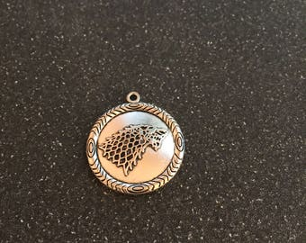 Game of Thrones Winter is Coming double sided charm