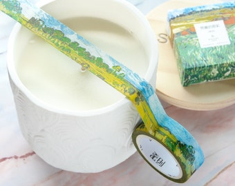 Wheat Field with Cypresses Washi Tape 15mm/ Van Gogh Inspired Washi Tape/ Painting Washi Tape/ Landscape Washi Tape