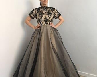 CLEARANCE SALE Black Wedding Dress, Tulle Black Wedding Dress, Gothic Wedding Dress, Black Bridal Gown, Black Lace Wedding Dress