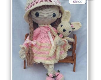 CHARLOTTE AND BINKY  Precious Poppets Handcrafted Amigurumi Designer Doll