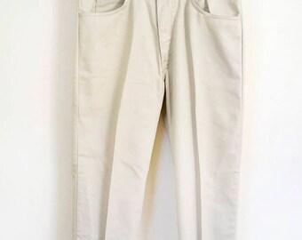 """60s light tan colored Levis Sta-Prest pants, 30"""" waist"""