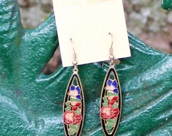 Vintage Genuine Cloisonne Earrings