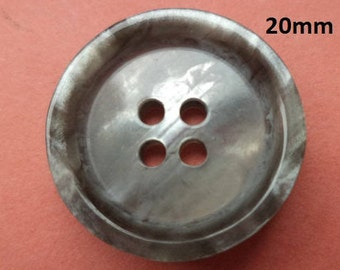 10 Grey buttons 20 mm (699) button