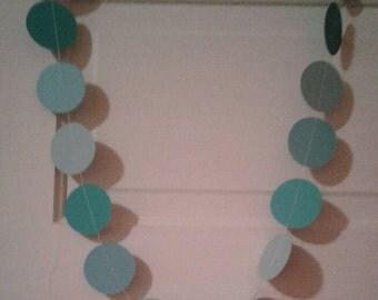 paper garland, blue paper garland, baby show garland, baby shower decorations, baby boy garland, ocean garland,