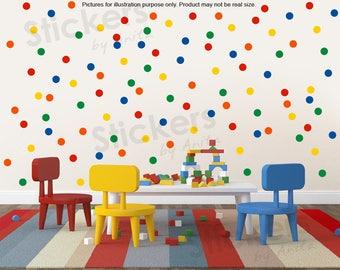 100 Polka Dots Wall Stickers, Round Circle Confetti Decals, Wall decor idea, Nursery decals, polka Dots wall decals, Vinyl wall art stickers