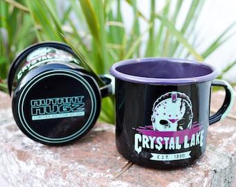 Camp Crystal Lake Enamelware Horror Movie Mug