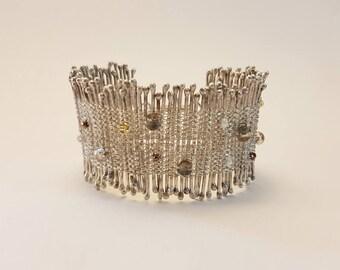 Bracelet artisanal en argent Automne étincellant