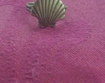 Scallop Shell Ring / Bronze / Camino de Santiago / St James / Pilgrim / Compostela / Beach