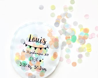 Balloon confetti size L, customizable. (sold individually)