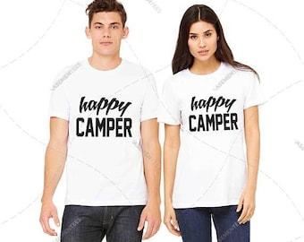 "Unisex - Premium Retail Fit ""Happy Camper""  2017 T-Shirt, YouTube,  (S- 3XL+)"