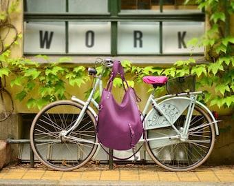 Leather bag pink Large Hobo Shoulder slouchy travel handbag everyday big sling tote purse carry oversize zippered boho simple minimalist bag