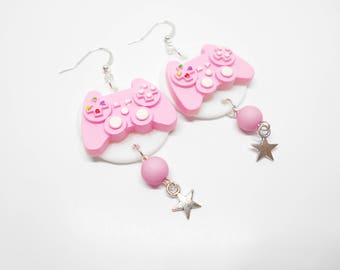Geek console controller earrings