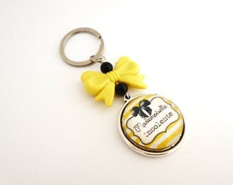 """Keychain funny insult - soft """"Miss cheeky"""" words"""