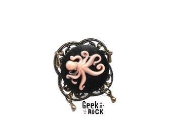 Steampuk Octopus octopus kraken Octopus ring