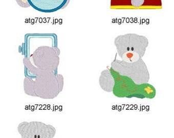 Chubby-Needlework. ( 5 Machine Embroidery Designs from ATW ) XYZ17F